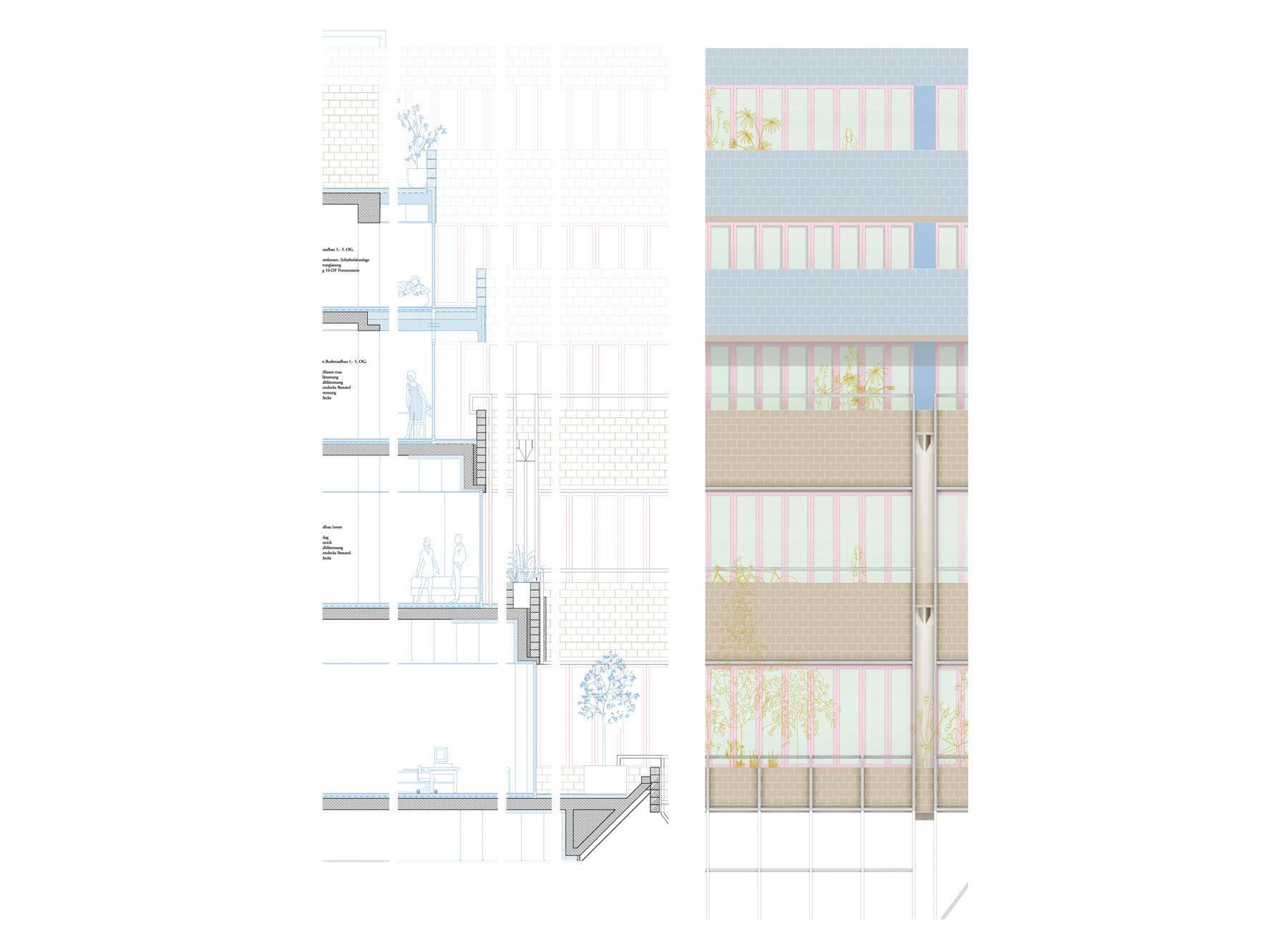 courtyard facade detail