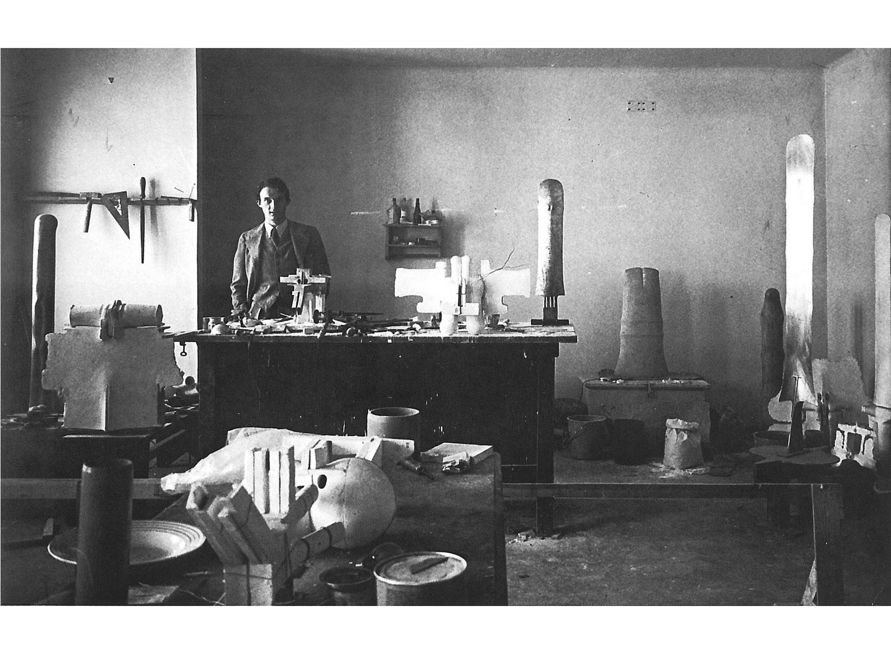 Walter Pichler in his Studio, 1963
