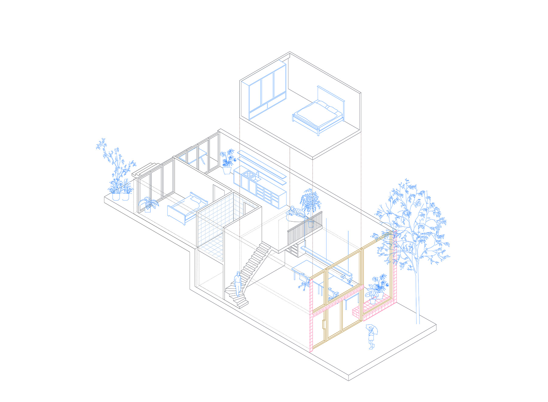 apartment living-working