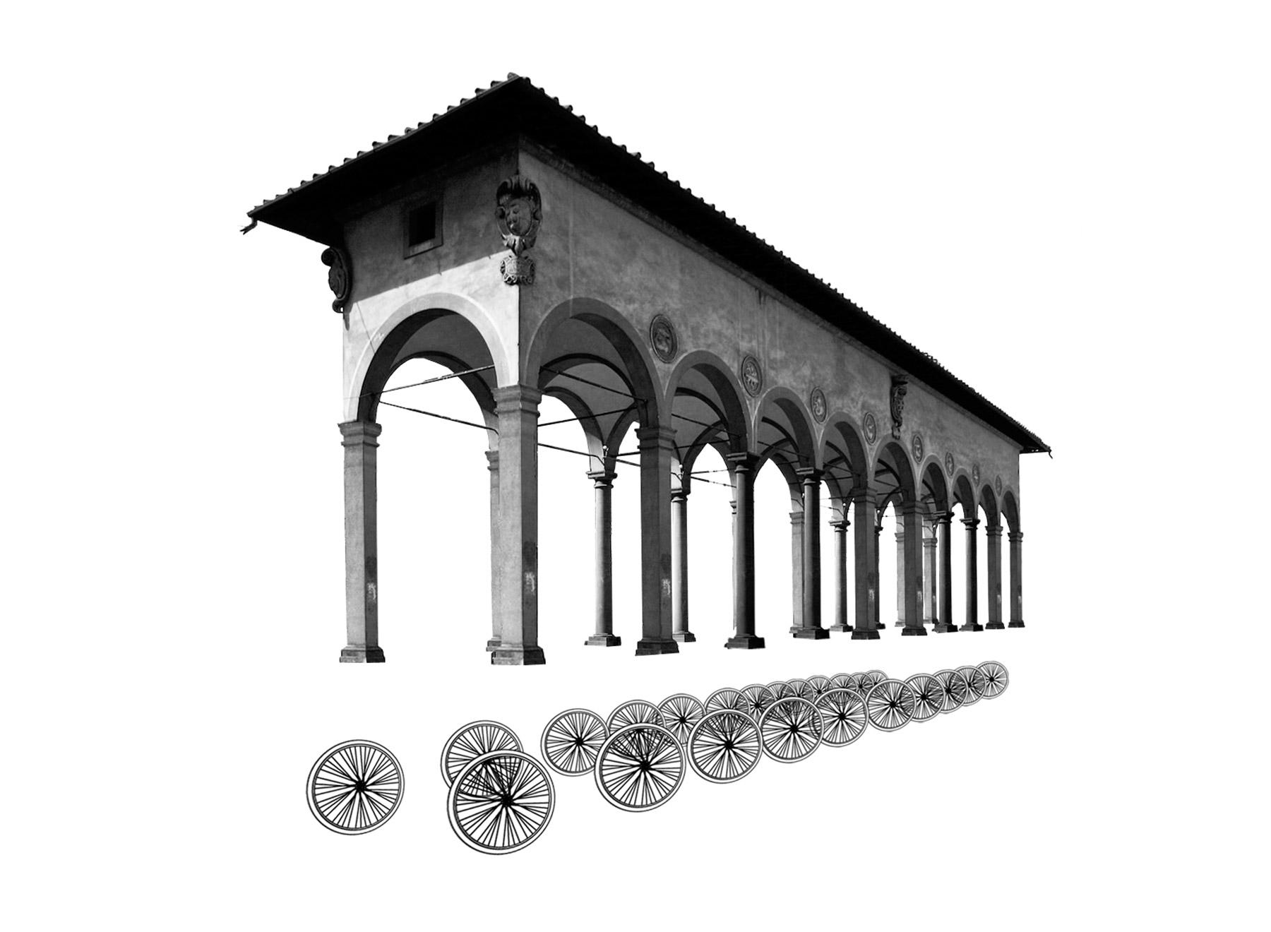 Loggia del Pesce, Giorgio Vasari, 1567 plus wheels