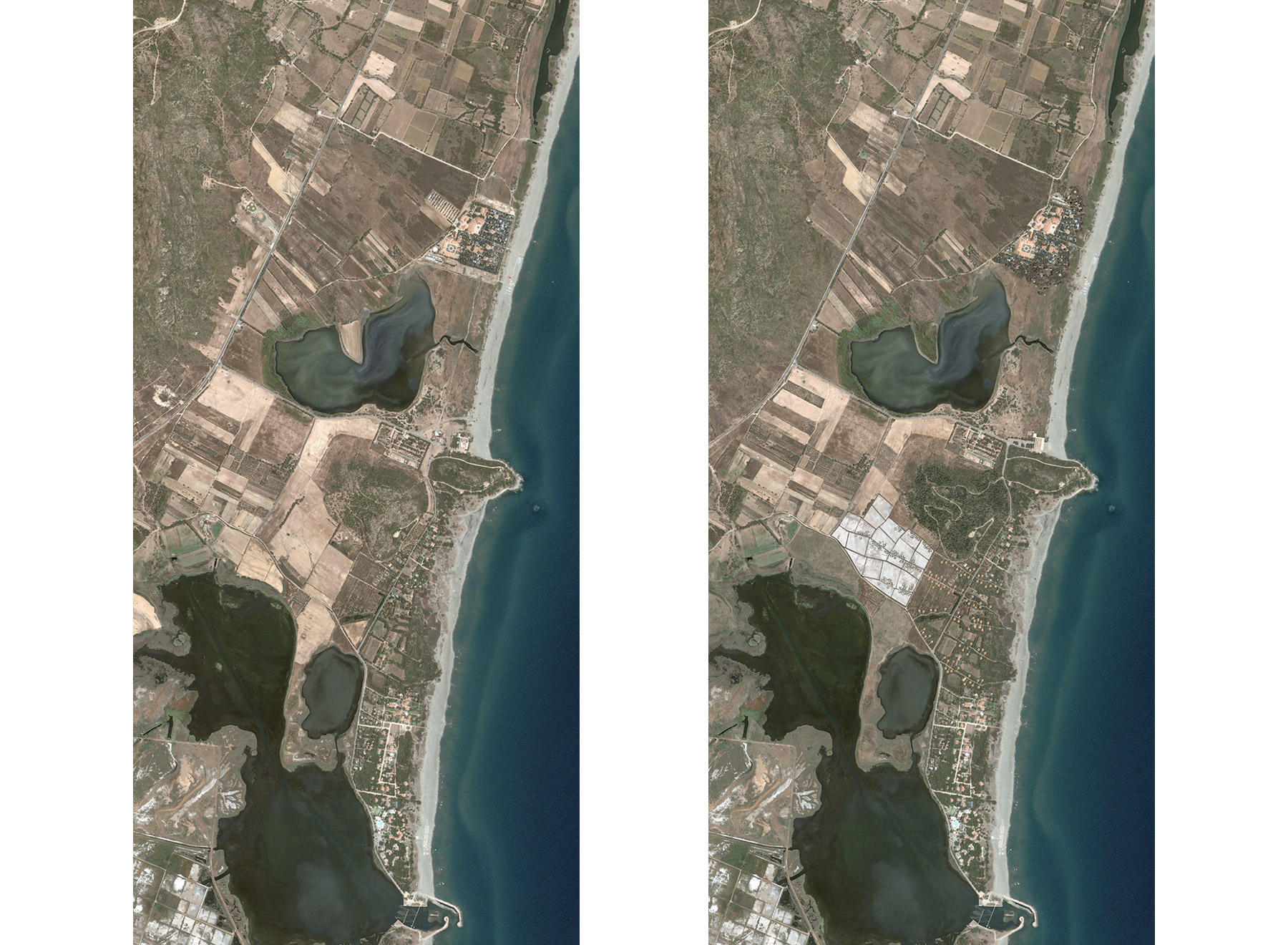 Torre Salina, before and after