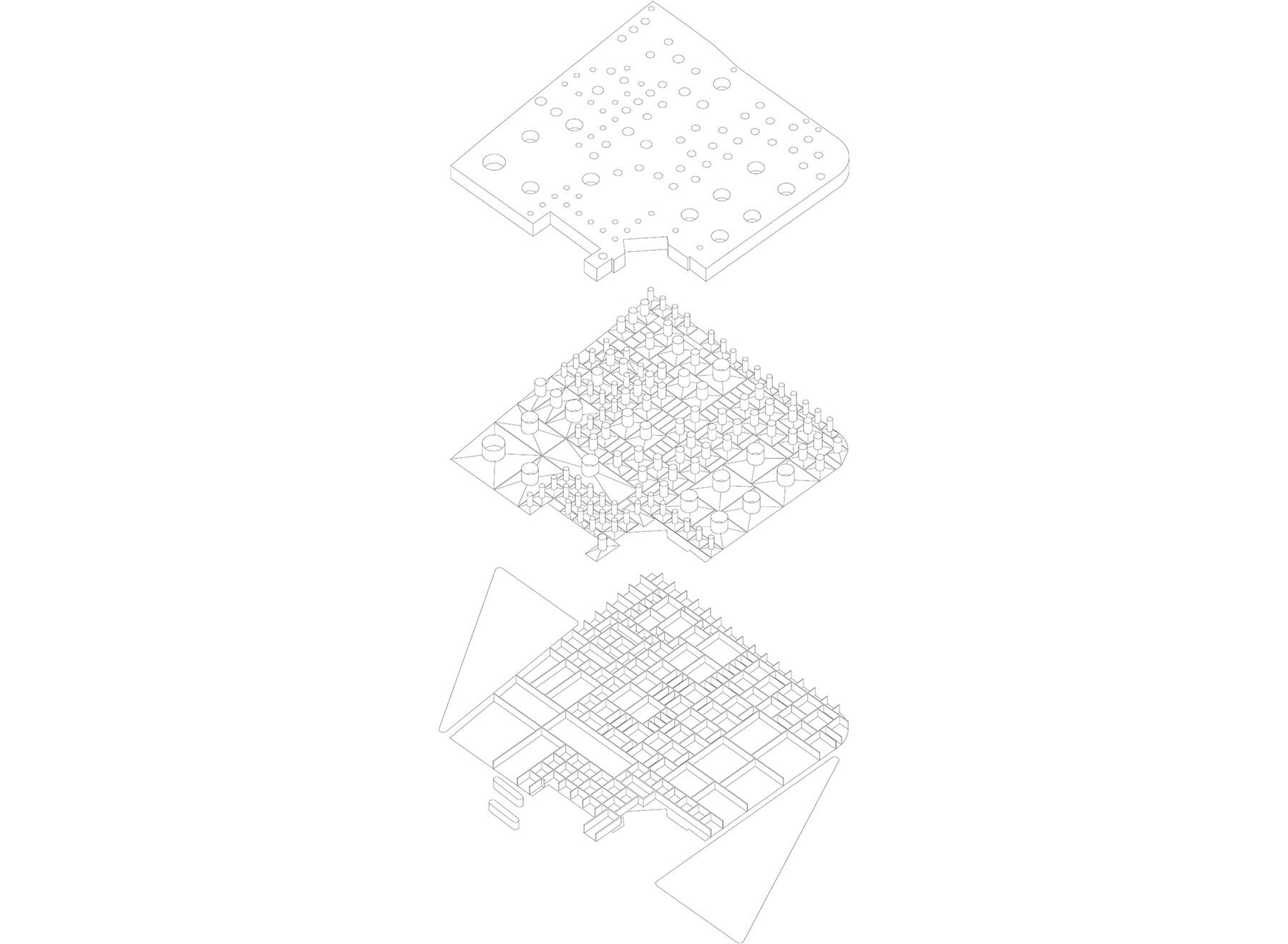 roof facade - non-public floor - exhibition spaces