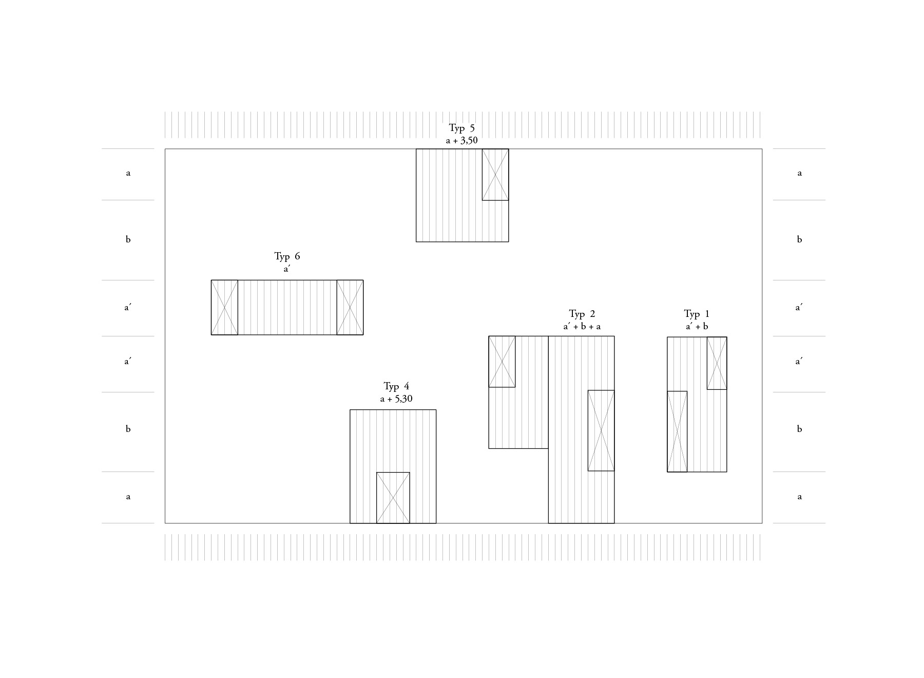 grid of patio houses
