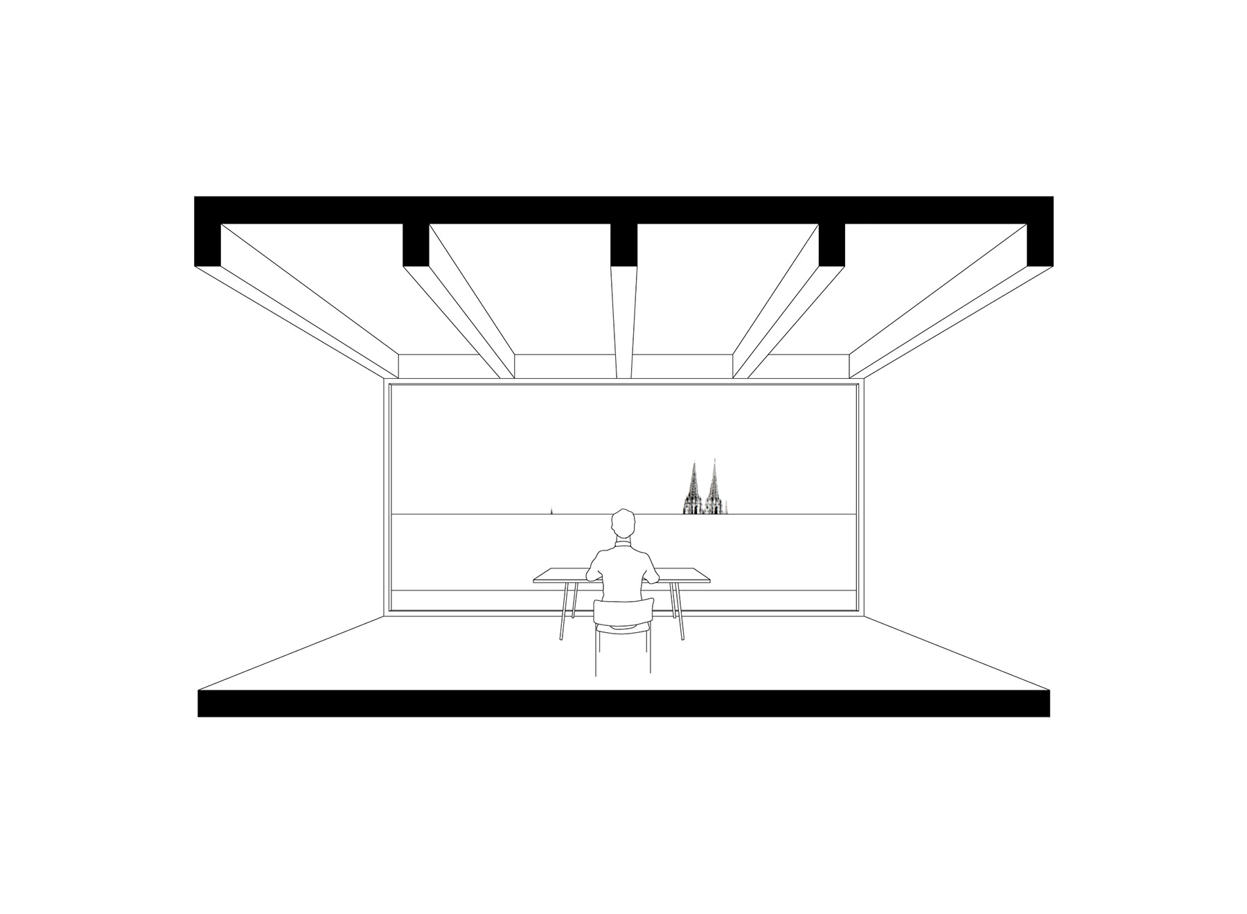 before conversion, balustrade at eye level