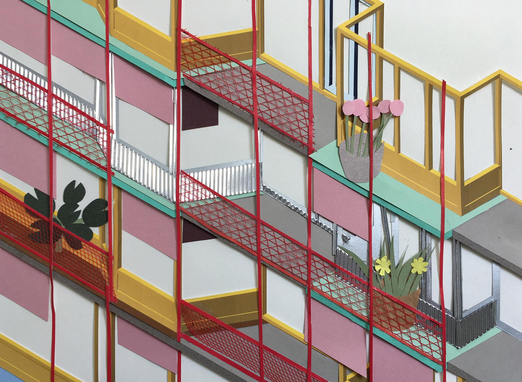 layered facade