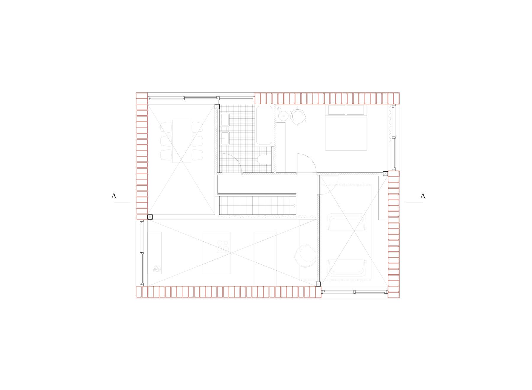 5/8 house, upper floor