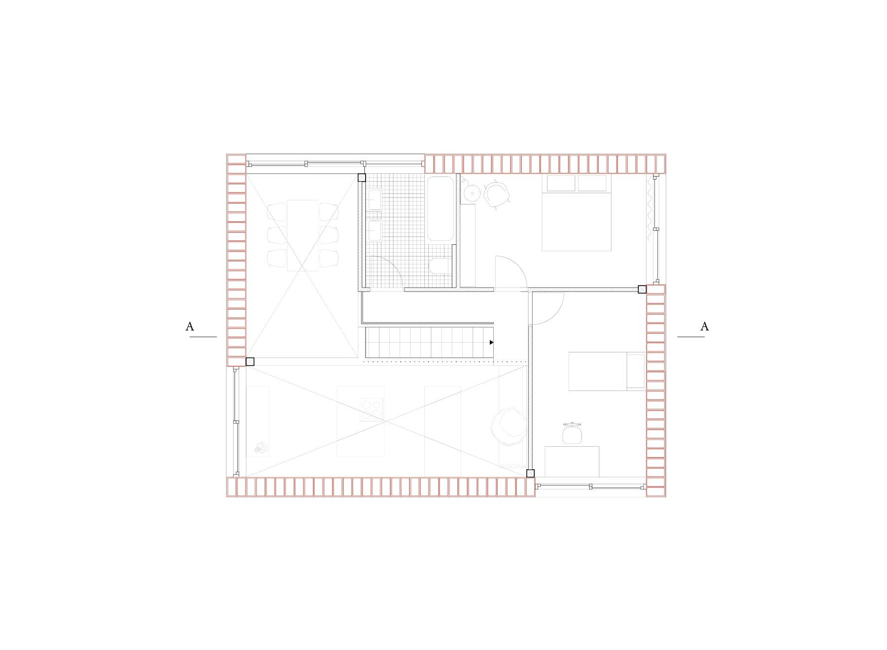 6/8 house, upper floor