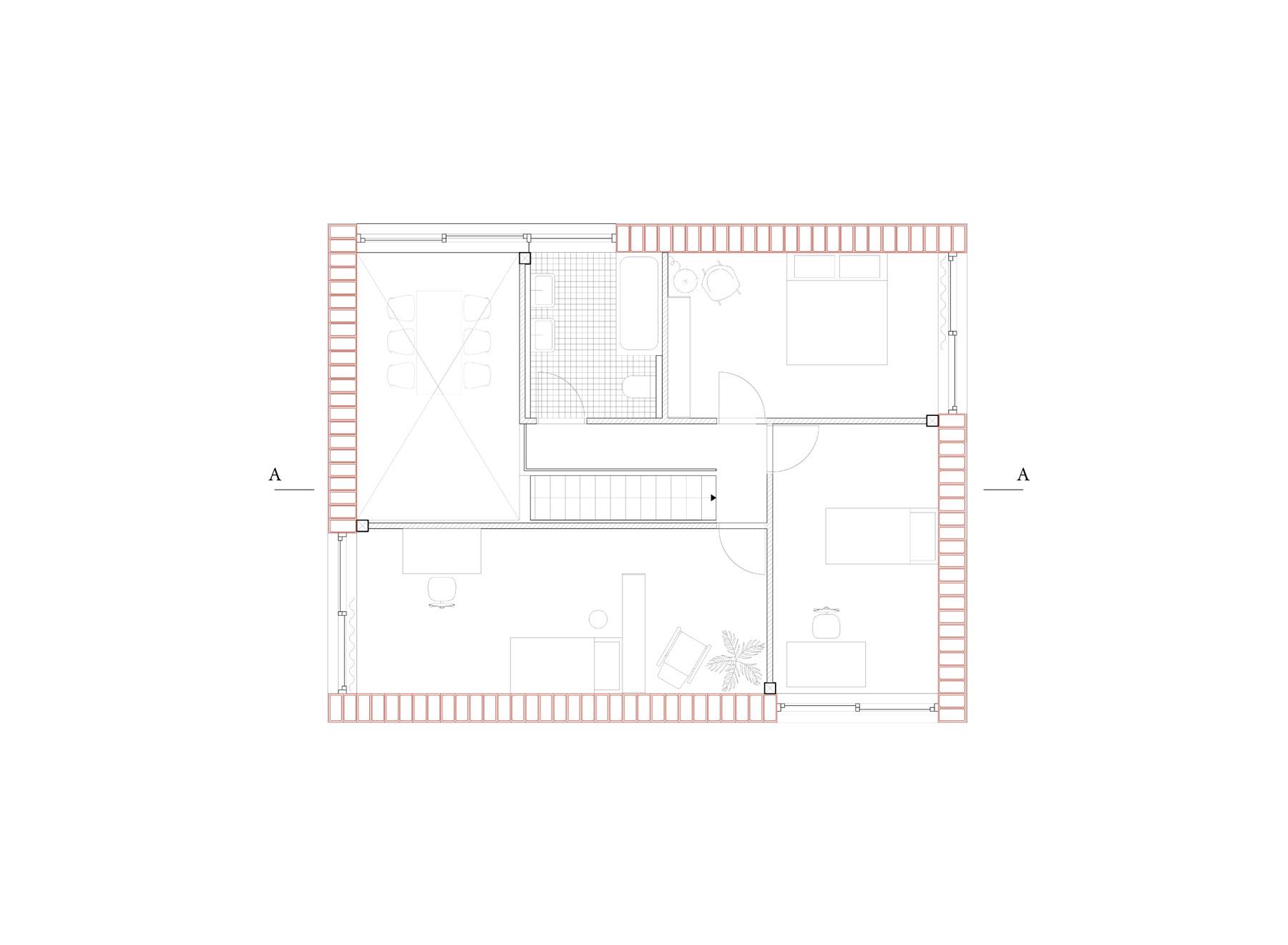 7/8 house, upper floor