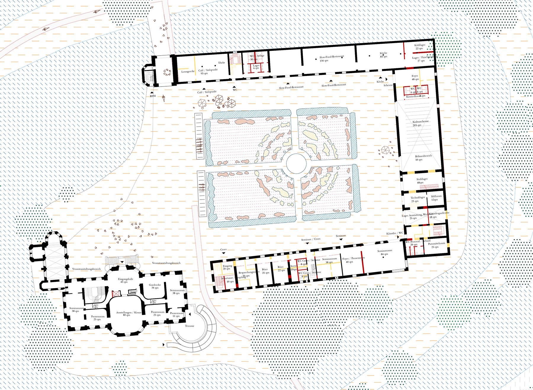 castle ground floor plan