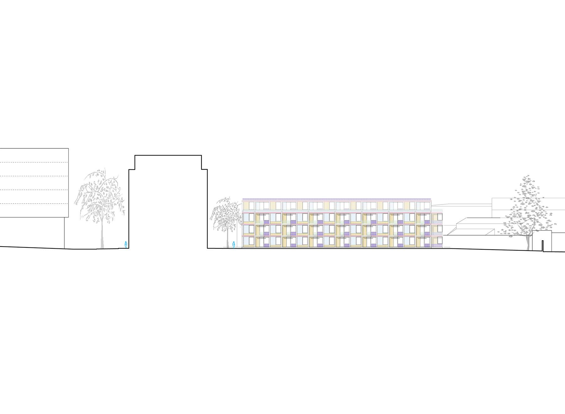courtyard building elevation