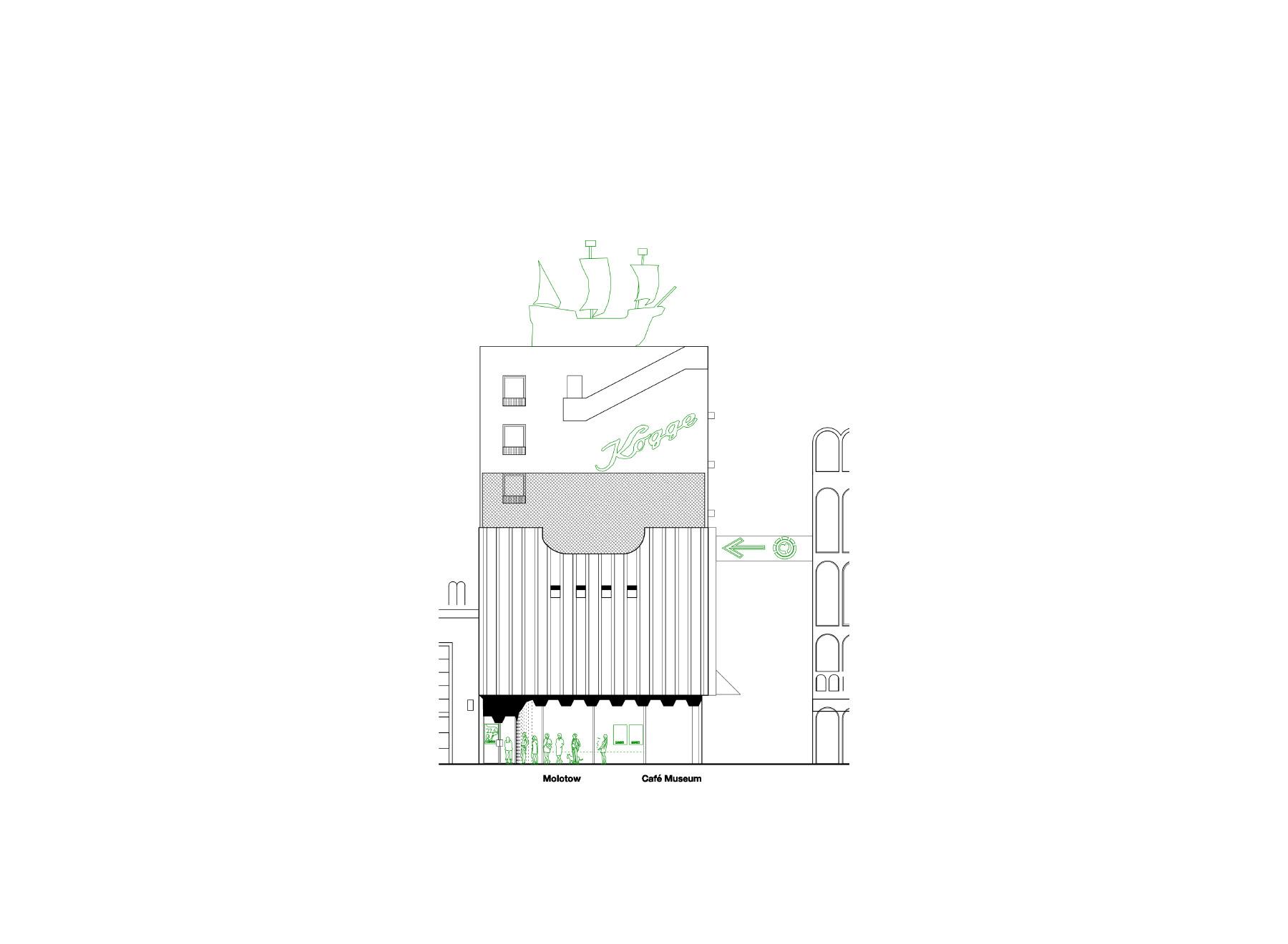 Spielbudenplatz elevation