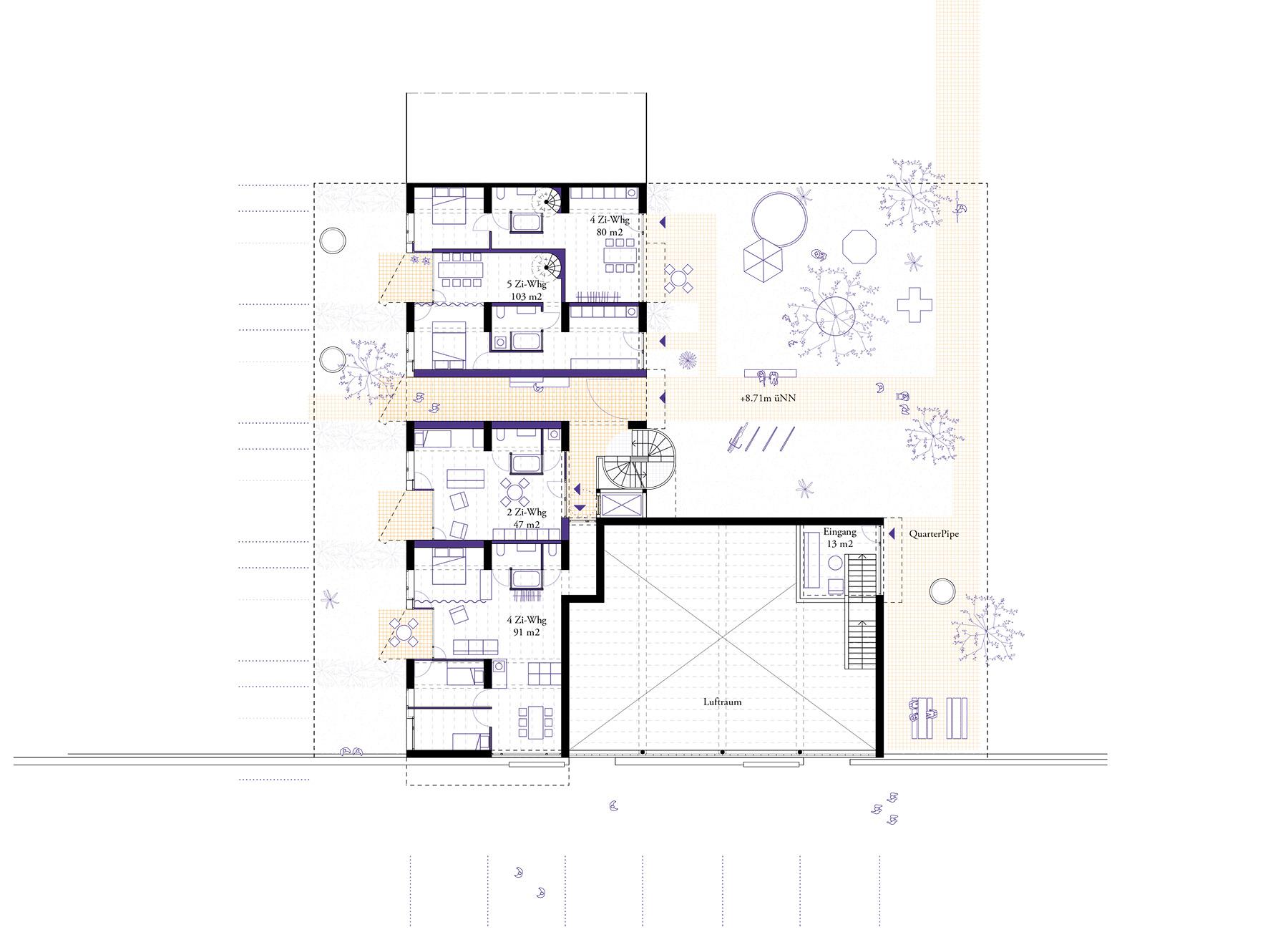 ground floor street level