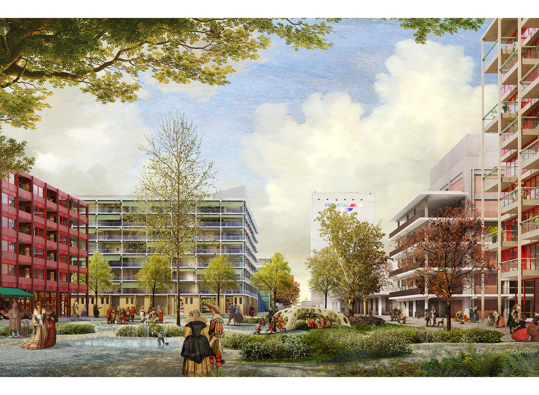 Place Jardin, rendering: Ponnie Images