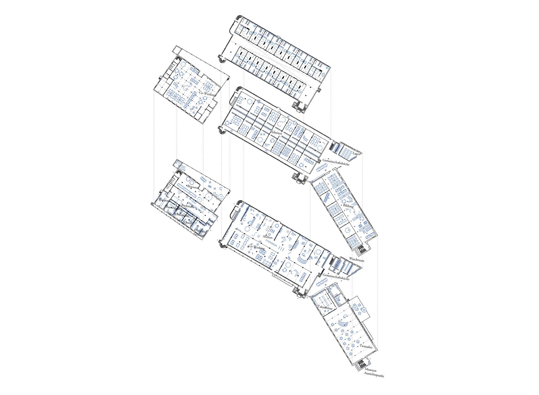 floor plans for Eduardstr. 41 and 43