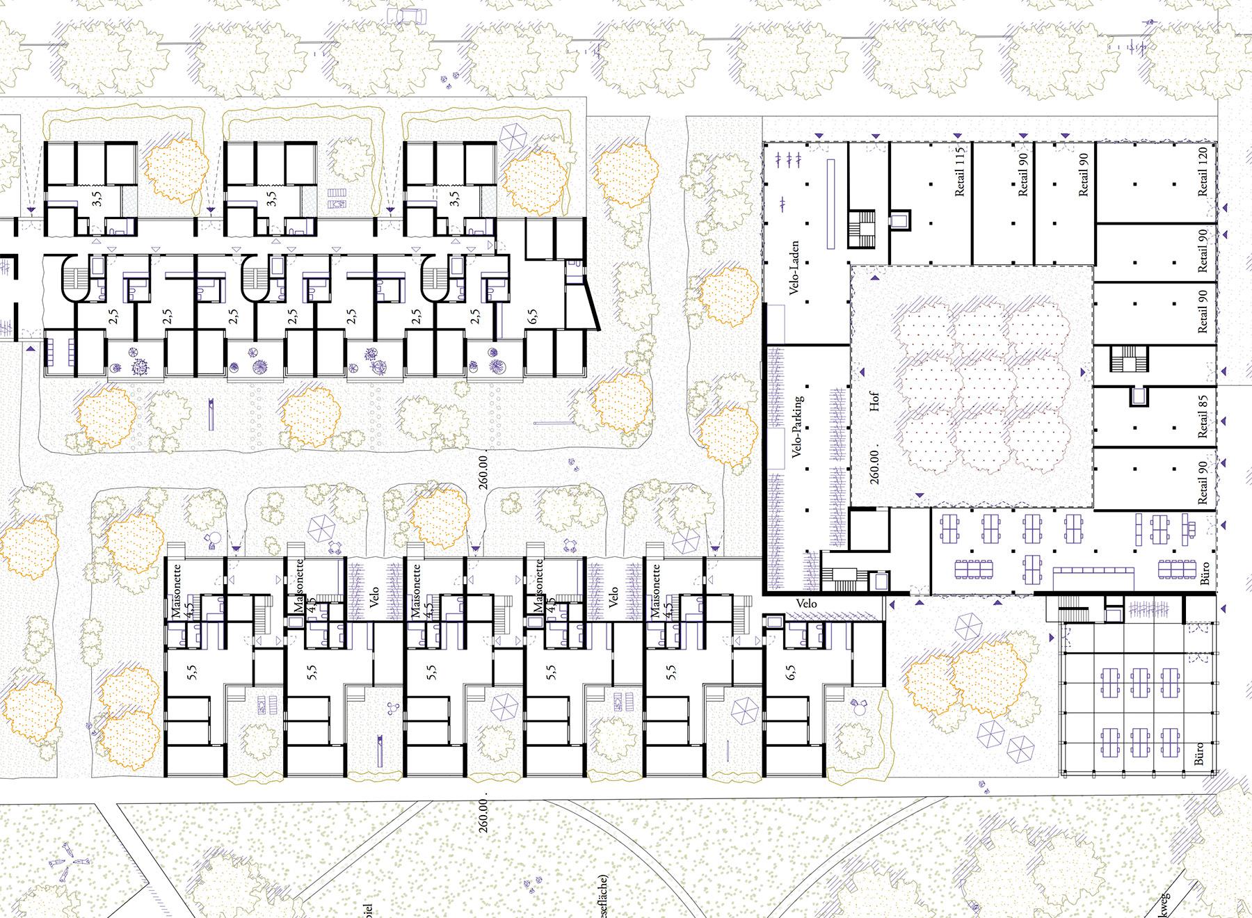 mixed-use ground floor