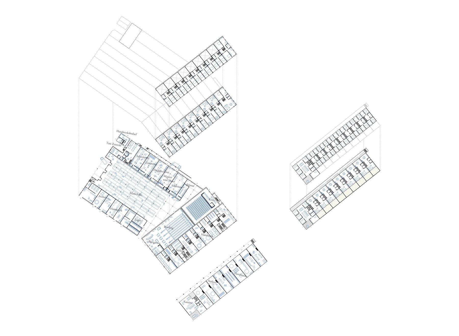 floor plans for Eduardstr. 40 and worker's yard