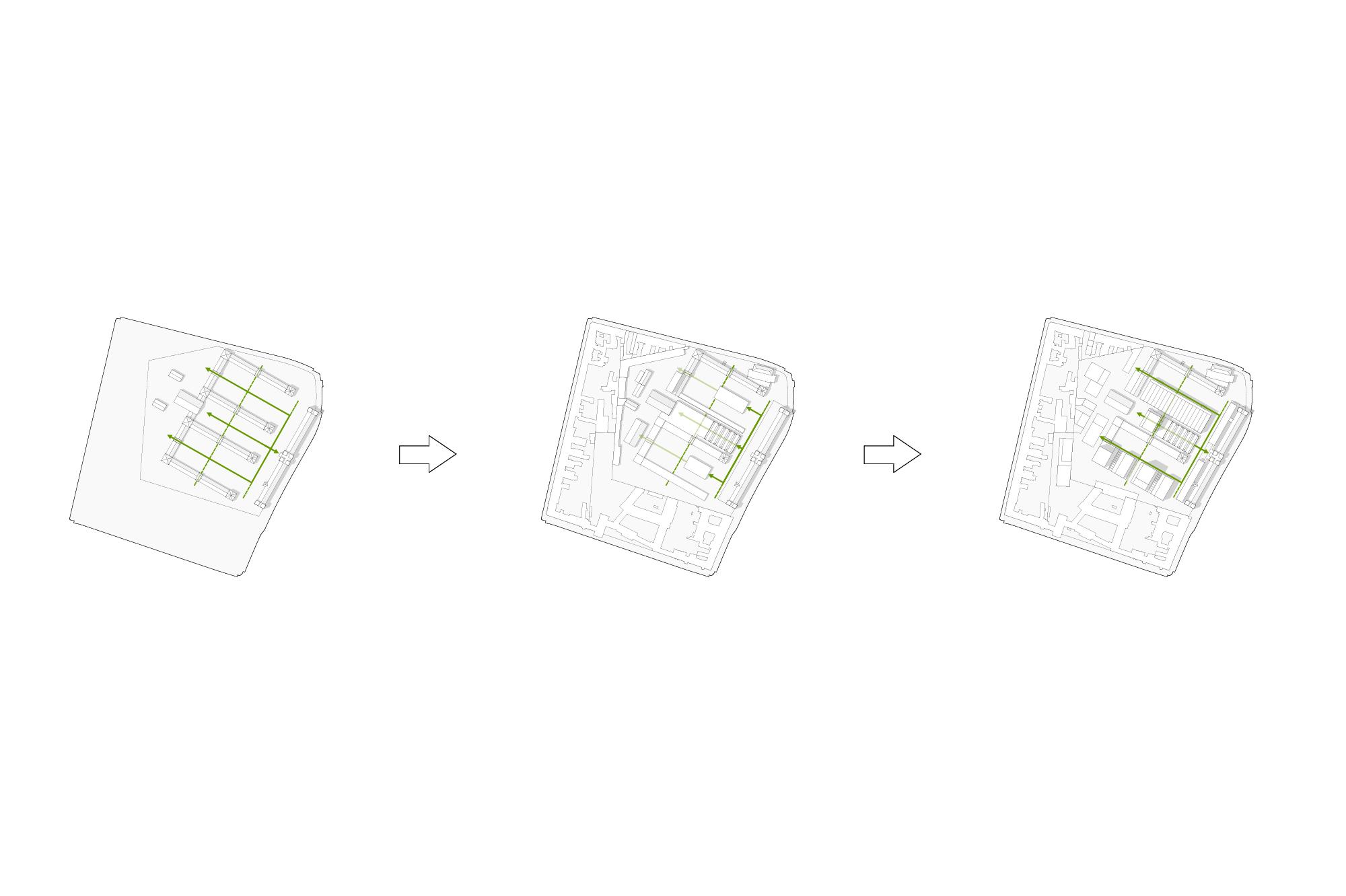original barracks axes - current axes - proposed axes